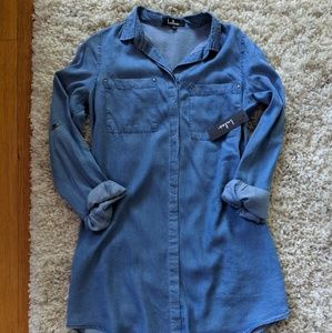 Lulu's Chambray Shirtdress NWT